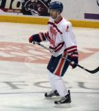 """Nick Schultz skates at center ice during the """"Rock Out the Lockout"""" charity game."""