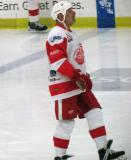 John Ogrodnick skates during pre-game warmups before an alumni game.
