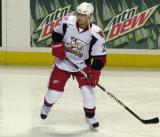 Tomas Tatar skates near the boards during pre-game warmups before a Grand Rapids Griffins game.