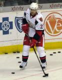 Tomas Tatar plays with a puck during pre-game warmups before a Grand Rapids Griffins game.