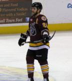 Andrew Ebbett of the Chicago Wolves skates during a stop in play.