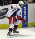 Landon Ferraro skates across the blue line during a Grand Rapids Griffins game.