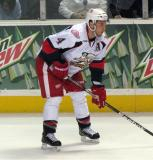 Nathan Paetsch gets set for a faceoff during a Grand Rapids Griffins game.