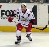 Chad Billins skates away from the boards during a Grand Rapids Griffins game.