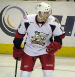 Joakim Andersson skates during a stop in play in a Grand Rapids Griffins game.