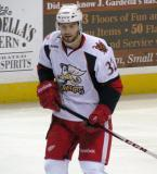 Brian Lashoff watches the puck during a Grand Rapids Griffins game.
