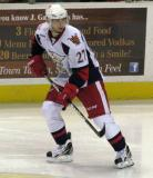 Tomas Tatar looks over his shoulder while skating near the boards during a Grand Rapids Griffins game.