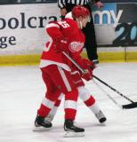 Cory Emmerton fights for position during the Red and White Game.