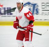Todd Bertuzzi skates during the Red and White Game.