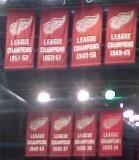 Detroit's old League Championship banners from the 1930s, 1940s and 1950s.
