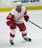 Landon Ferraro chases the puck during the Red and White Game.