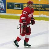 Jordin Tootoo skates through the neutral zone during a stop in play in the Red and White Game.