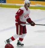 Jakub Kindl skates through the neutral zone during the Red and White Game.