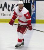 Jakub Kindl tracks the play at the blue line during the Red and White Game.