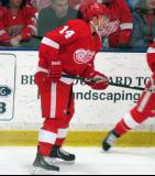 Gustav Nyquist skates along the boards during the Red and White Game.