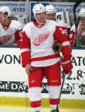 Mike Knuble skates away from the bench during a stop in play in the Red and White Game.