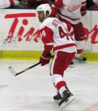 Todd Bertuzzi skates through the neutral zone during the Red and White Game.