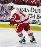 Patrick Eaves skates near the boards during the Red and White Game.