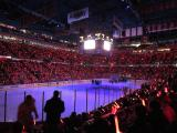 The inside of Joe Louis Arena prior to the Red Wings' 2013 home opener.