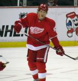 Justin Abdelkader skates during a stop in play.
