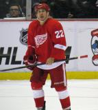 Jordin Tootoo looks up at the scoreboard during a stop in play.