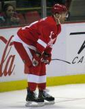 Daniel Cleary gets set for a faceoff.