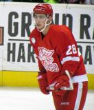 Tomas Jurco skates during pre-game warmups before a Grand Rapids Griffins game.