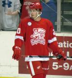 Gleason Fournier skates along the boards during pre-game warmups before a Grand Rapids Griffins game.
