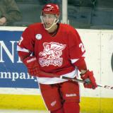 Tomas Jurco skates near the boards during pre-game warmups before a Grand Rapids Griffins game.
