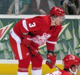 Mark Mitera gets set for a faceoff during a Grand Rapids Griffins game.