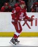 Riley Sheahan skates along the boards during a Grand Rapids Griffins game.