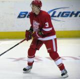 Mark Mitera skates near the boards during a Grand Rapids Griffins game.