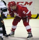 Brent Raedeke gets ready for a faceoff during a Grand Rapids Griffins game.