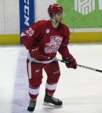 Gleason Fournier stands up at the blue line during a Grand Rapids Griffins game.