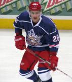 Tomas Jurco skates during pre-game warmups before the Grand Rapids Griffins' Purple Game.