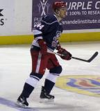 Brennan Evans skates at the blue line during the Grand Rapids Griffins' Purple Game.