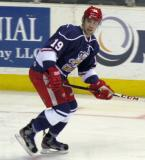 Riley Sheahan skates up ice during the Grand Rapids Griffins' Purple Game.