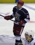 Jan Mursak skates through center ice during the Grand Rapids Griffins' Purple Game.