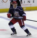 Brett Skinner skates near the blue line during the Grand Rapids Griffins' Purple Game.