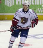Patrick Holland of the Hamilton Bulldogs skates in the neutral zone during a game against the Grand Rapids Griffins.