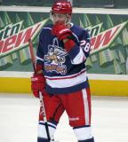 Tomas Jurco stands on the ice during a stop in play in the Grand Rapids Griffins' Purple Game.