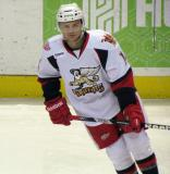 Chad Billins skates during pre-game warmups before a Grand Rapids Griffins game.