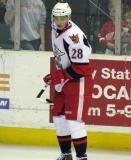 Tomas Jurco balances a puck on his stick during pre-game warmups before a Grand Rapids Griffins game.