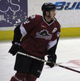 Brad Malone of the Lake Erie Monsters skates during pre-game warmups before a game against the Grand Rapids Griffins.