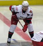 Tomas Jurco gets set for a faceoff during a Grand Rapids Griffins game.