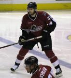 Stefan Elliott of the Lake Erie Monsters skates at the blue line during a game against the Grand Rapids Griffins.