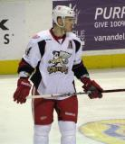 Brennan Evans skates during a stop in play in a Grand Rapids Griffins game.