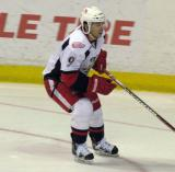 Francis Pare chases after the puck during a Grand Rapids Griffins game.