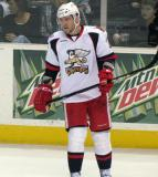 Triston Grant skates during a stop in play in a Grand Rapids Griffins game.