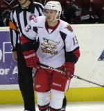Gustav Nyquist tracks the puck during a Grand Rapids Griffins game.